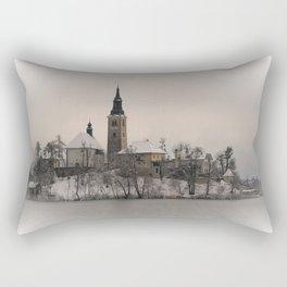 Bled Island Winter Rectangular Pillow