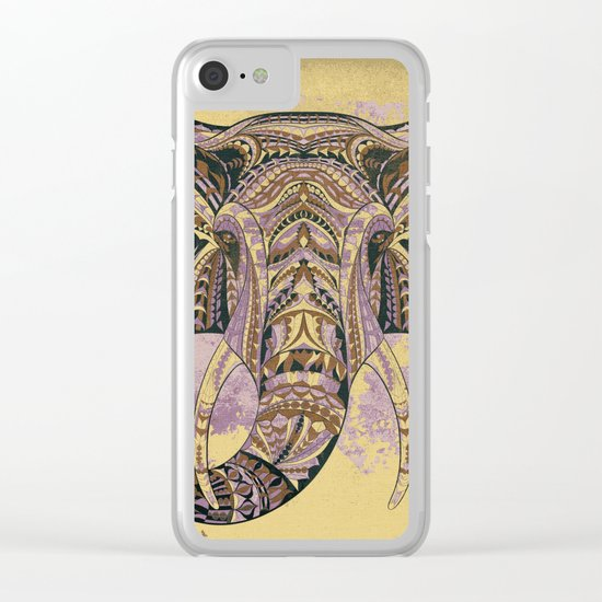 Grunge Ethnic Elephant Clear iPhone Case