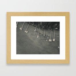 Dock From Above Framed Art Print