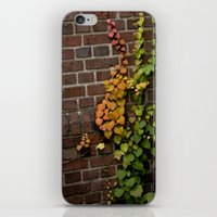 climbing iPhone & iPod Skins featuring Climbing by C. Wie Design