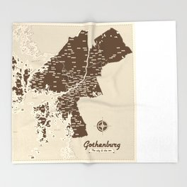 Gothenburg - The city & the sea Throw Blanket