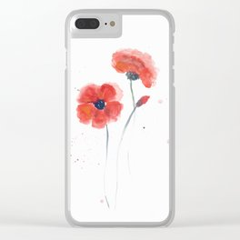 Watercolor 03 Clear iPhone Case