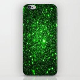 gAlAXy Green Sparkle Stars iPhone Skin