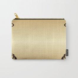 Golden Art nouveau Carry-All Pouch