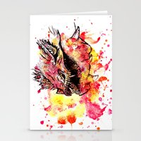 smaug Stationery Cards featuring Watercolor Smaug by Trinity Bennett