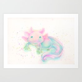 My sweet axolotl Art Print