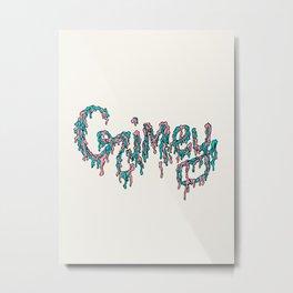 Grimey Metal Print