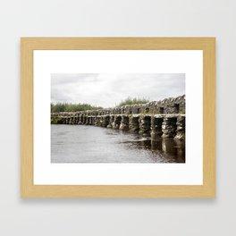 Little Stone Bridge Framed Art Print