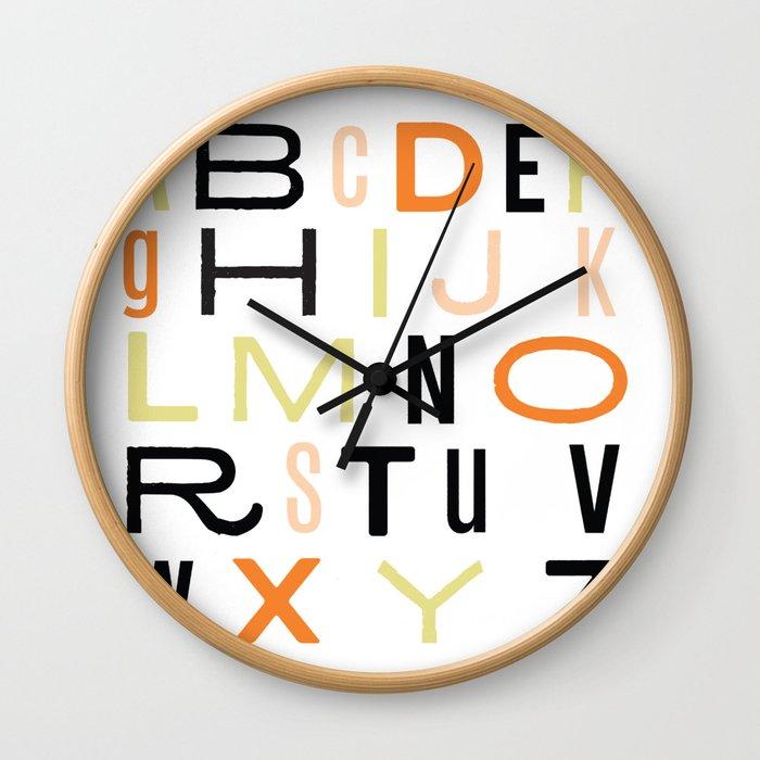 Eclectic Alphabet Wall Clock