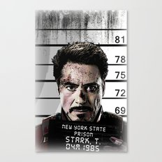 Tony Stark jailed Canvas Print