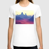 ashton irwin T-shirts featuring Mountains of Another World by Phil Perkins