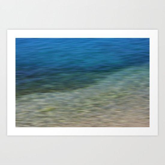 sea and shore Art Print