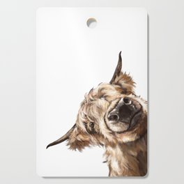Sneaky Highland Cow Cutting Board