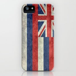 The State flag of Hawaii - Vintage version iPhone Case