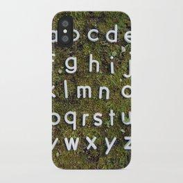 Alphabet Moss Poster iPhone Case