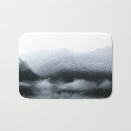 Low Hanging Fog in the Canadian Rockies Bath Mat