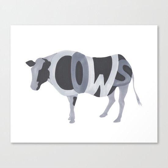 Cows Typography Canvas Print