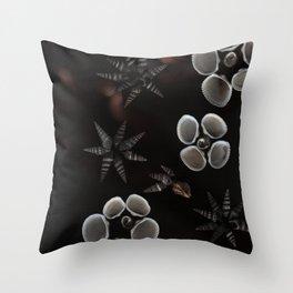 Seashells // #ScannedSeries Throw Pillow
