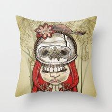 i wear my lucky skull  Throw Pillow
