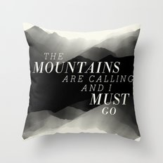 Mountains - BW Throw Pillow