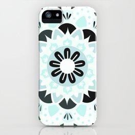 mandala grey and blue iPhone Case