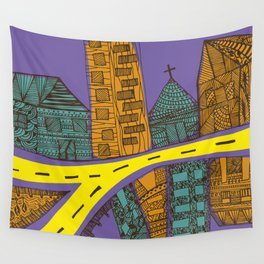 Quito City Colorful Wall Tapestry
