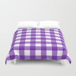 Purple Buffalo Check - more colors Duvet Cover