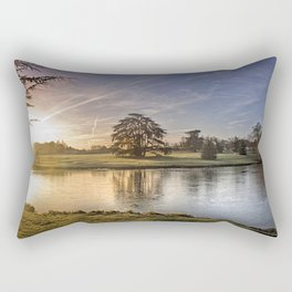 Leeds Castle Upper Lake Rectangular Pillow
