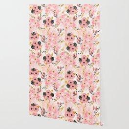 Night Meadow Blush Pink Wallpaper