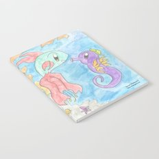 Flower Fish and Flower Seahorse Notebook