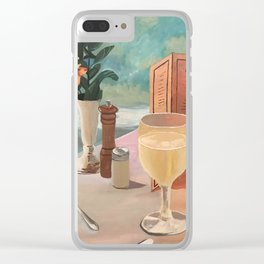 champagne skies Clear iPhone Case
