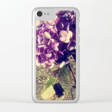 Purple Index Clear iPhone Case