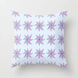 Stars 10- sky,light,rays,pointed,hope,estrella,mystical,spangled,gentle. Throw Pillow