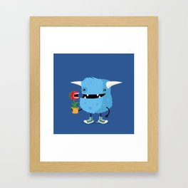 Monster and his pet plant carnivore Framed Art Print