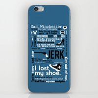 sam winchester iPhone & iPod Skins featuring Supernatural - Sam Winchester Quotes by natabraska