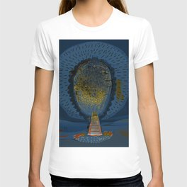 Tree Cactus in a Blue Desert T-shirt