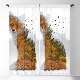 Wild I Shall Stay | Fox Blackout Curtain