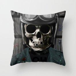 Skull graphic design Throw Pillow