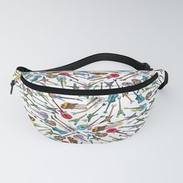 Electric Guitars on White Fanny Pack