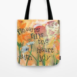 Flowers and Joy by Seattle Artist Mary Klump Tote Bag
