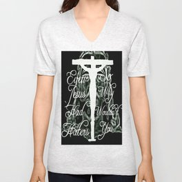 Even Jesus Had Haters Unisex V-Neck