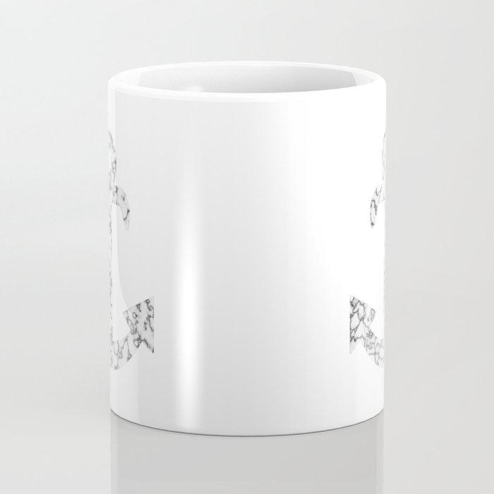 Marble Anchor in Black Coffee Mug