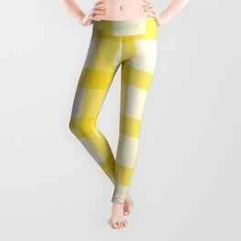 Yellow Lines Pattern Leggings