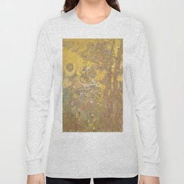 "Odilon Redon ""Trees on a yellow Background"" Long Sleeve T-shirt"