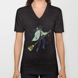 Witch Series: Broomstick Unisex V-Neck