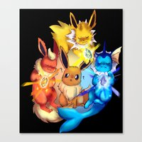 eevee Canvas Prints featuring EEVEE by Rosie