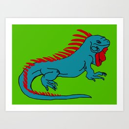 The Phenomenal Iguana Art Print