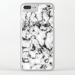 Black and White Stone Clear iPhone Case