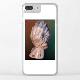 Hands of a sculptor by Shimon Drory Clear iPhone Case