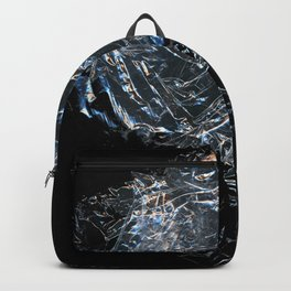 Clear Crumpled Plastic Backpack